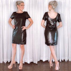 DKNYC Black Sequin Mini Dress